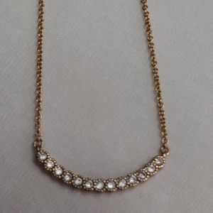 Pretty!!! LOFT Gold Tone & Crystal Necklace!!!